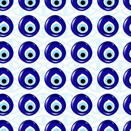 Seamless amulet pattern, Turkish traditional symbol.Ethnic, folk background. - illustration