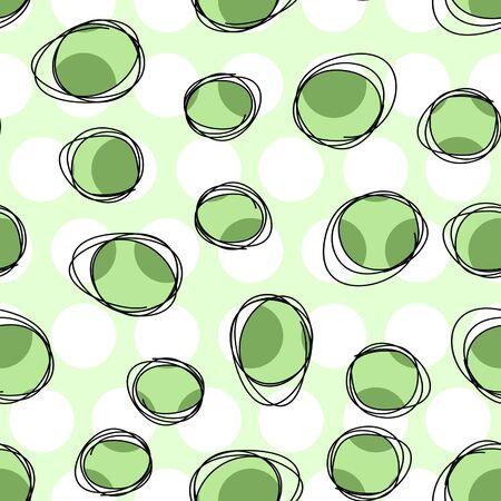 Seamless polka dots with circle contour. Geometric pattern. - illustration Zdjęcie Seryjne