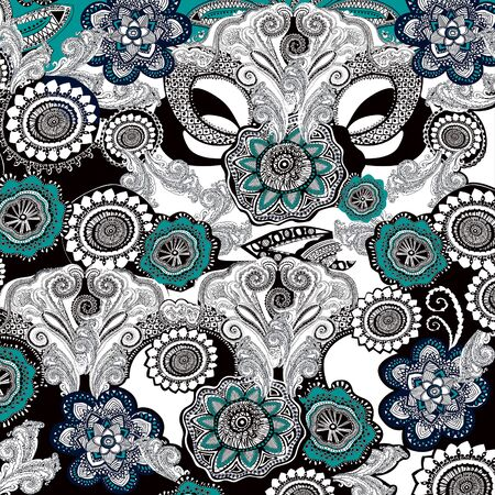 Ornamental geometric pattern. Ethnic, folk, traditional shapes on white background. - illustration