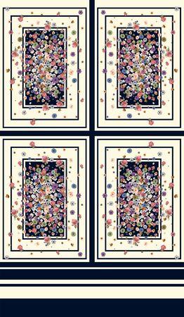 Little flowers pattern in frames. Dress fashion print. Fabric element. Textile design.Symmetrical geometric background. - Illustration Zdjęcie Seryjne
