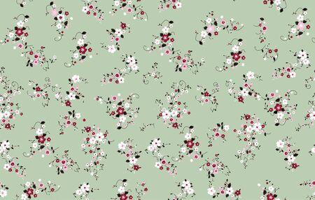 image descriptionColorful floral pattern. Seamless little flowers for fabric print. Fashion figures. - illustration Zdjęcie Seryjne