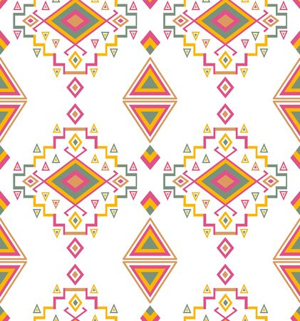 Traditional geometric pattern. Ethnic, folk, ornamental background. - illustration Stock fotó