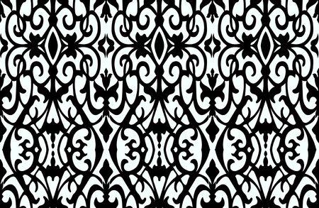 Seamless tribal pattern with ceramic shapes.Traditional, ornamental, ethnic fabric print. - Illustration Zdjęcie Seryjne