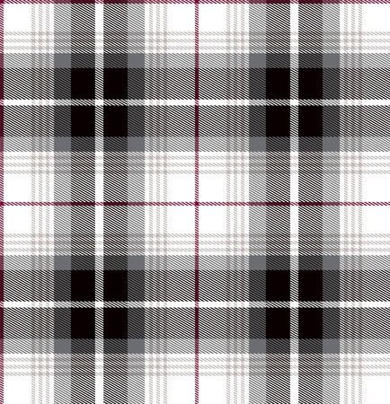 Plaid check patten in pastel gray, dusty beige, claret red and white. Seamless fabric texture.Fashion print. - illustration Zdjęcie Seryjne
