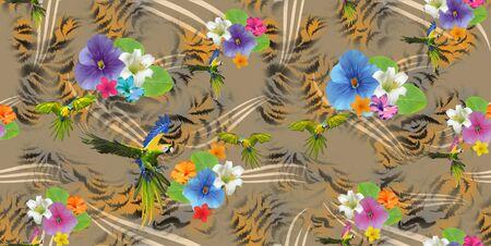 Seamless fabric print. Fashion design. - Illustration Zdjęcie Seryjne