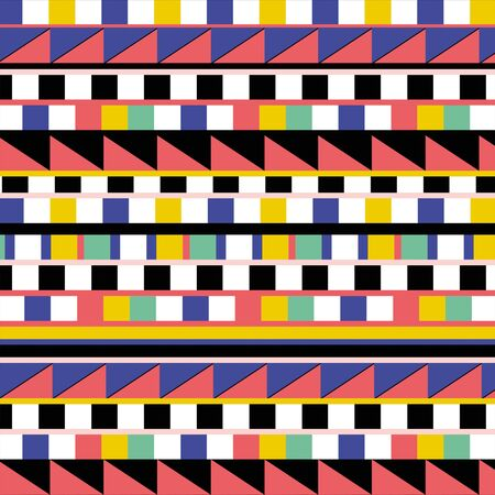 Multicolor geometric pattern, squares and triangles background. - Illustration Zdjęcie Seryjne