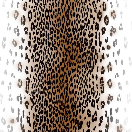 Leopard gradient skin texture on white background. Textile figure. Fashionable print for fabric or paper. - illustration. Stock fotó