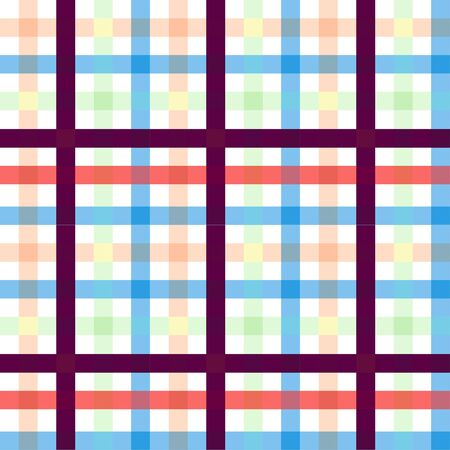Colorful Plaid check pattern. Seamless fabric texture print for textile. Fashion print. - illustration