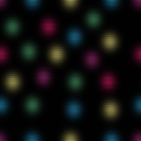 Seamless brush strokes with horizontal lines. Colorful geometric background. - illustration