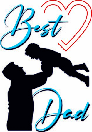 Best dad greeting vector print, card for father's day or birthday