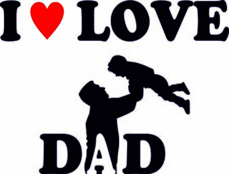 I love dad vector celebration print, card for father's day or birthday