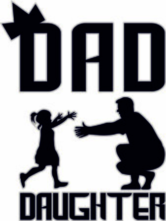 Dad and daughter vector celebration image for father's day or birthday