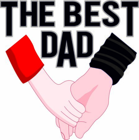 The bast dad vector celebrating print, card for father's day or birthday  イラスト・ベクター素材