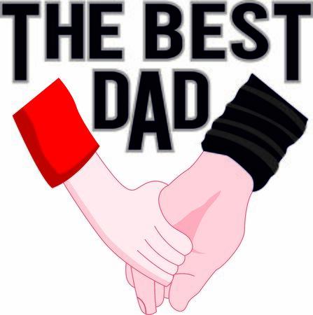 The bast dad vector celebrating print, card for father's day or birthday Illusztráció