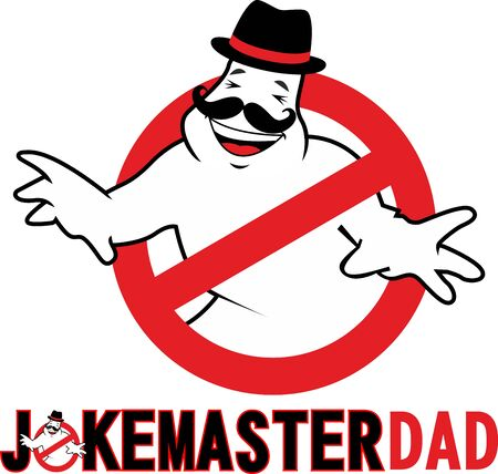 Joke master dad greeting card or tshirt print for father's day and birthday gifts