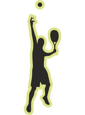 Tennis Player Digital silhouette, Sports illustration, T-shirt Print