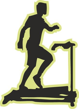 Exercise digital illustration, Sports silhouette Foto de archivo