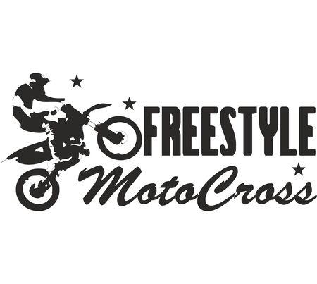 Freestyle motocross digital illustration, Sports silhouette Stock fotó