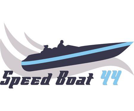 Water skiing boat racing digital illustration,T-shirt prints
