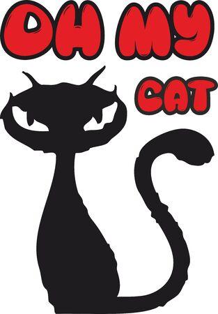 Cat Silhouette, Pet Prints for Animal Lovers Stock fotó