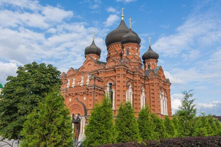 Russia, Tula August 03, 2019 a view of the Epiphany Cathedral on a sunny summer day