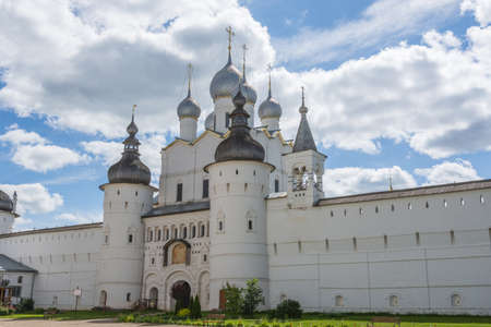 Russia June 30, 2020 Rostov, view of the Resurrection Church, photo taken on a sunny summer day