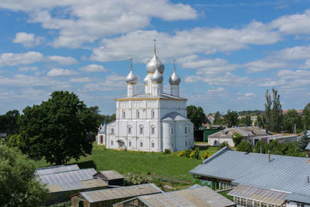 Russia June 30, 2020 the city of Rostov the Great, view of the Transfiguration Church, photo was taken on a sunny summer day