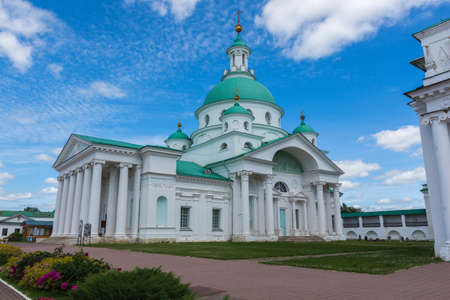Russia June 30, 2020 the city of Rostov the Great, view of the Dmitrievskaya church, photo was taken on a sunny summer day