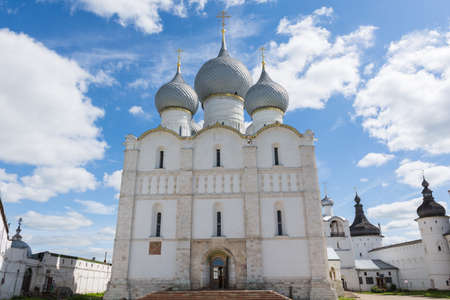 Russia June 30, 2020 Rostov, view of the Assumption Cathedral, photo taken on a sunny summer day Sajtókép