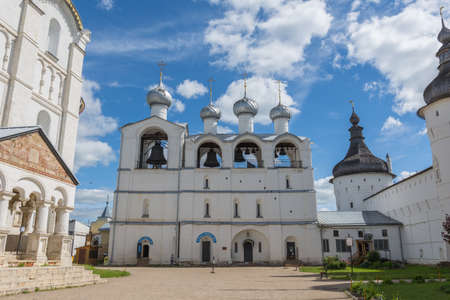 Russia June 30, 2020 the city of Rostov the Great, view of the Church of the Entry into Jerusalem, photo taken on a sunny summer day