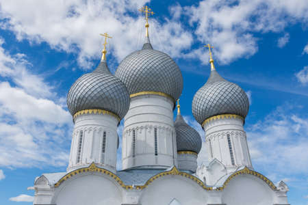 Russia June 30, 2020 the city of Rostov the Great, view of the Cathedral of the Assumption Cathedral, photo taken on a sunny summer day