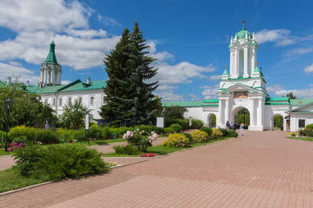 Russia June 30, 2020 the city of Rostov Veliky, view of the Spaso Yakovlevsky Monastery, photo was taken on a sunny summer day