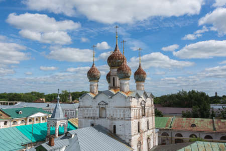 Russia June 30, 2020 the city of Rostov the Great, view of the Church of the Resurrection, photo taken on a sunny summer day