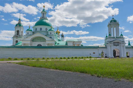 Russia June 30, 2020 the city of Rostov the Great, view of the Spaso Yakovlevsky Monastery, photo was taken on a sunny summer day