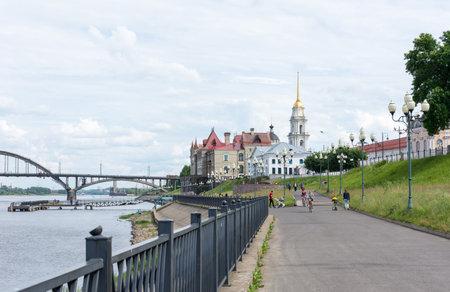 Russia July 1, 2020 Rybinsk, Volga Park, photo taken on a sunny summer day Sajtókép