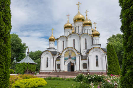 Russia July 2, 2020 Pereslavl-Zalessky, view of the Church of the Annunciation of the Most Holy Theotokos, photo taken on a sunny summer day Sajtókép