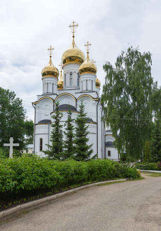 Russia July 2, 2020 Pereslavl-Zalessky, view of the Church of the Annunciation of the Most Holy Theotokos, photo taken on a sunny summer day. Sajtókép