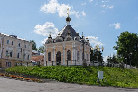 Russia July 1, 2020 Rybinsk, view of the Nikolskaya chapel in Rybinsk, photo taken on a sunny summer day