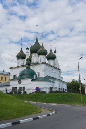 Russia July 2, 2020 Yaroslavl, view of the Church of St. Nicholas in the chopped city, photo taken on a sunny day