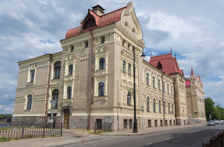 Russia July 1, 2020 Rybinsk, view of the Bread Exchange Palace in Rybinsk, photo taken on a sunny summer day