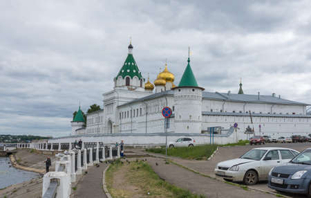 Russia June 29, 2020 Kostroma, view of the Ipatiev Monastery, photo taken on a sunny summer day