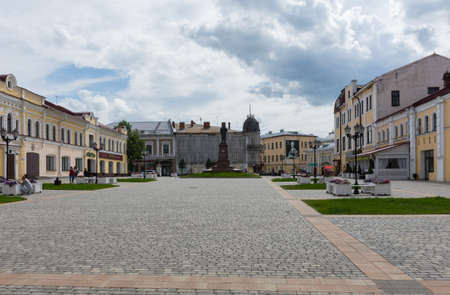 Russia July 1, 2020 Rybinsk, view of the red square in Rybinsk, photo taken on a sunny summer day Sajtókép