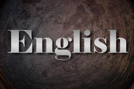 English text on Background photo