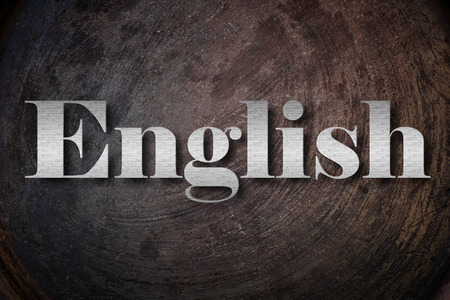 english text: English text on Background Stock Photo