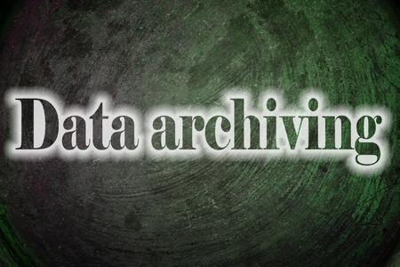 Data Archiving, concept sign photo