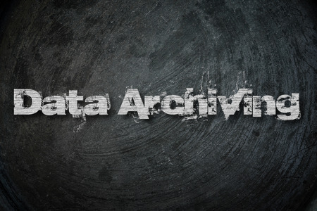 data archiving: Data Archiving, concept sign Stock Photo