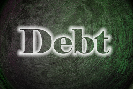 Debt, concept sign photo