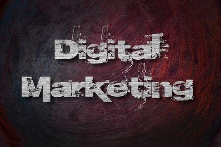 Digital Marketing, concept sign photo