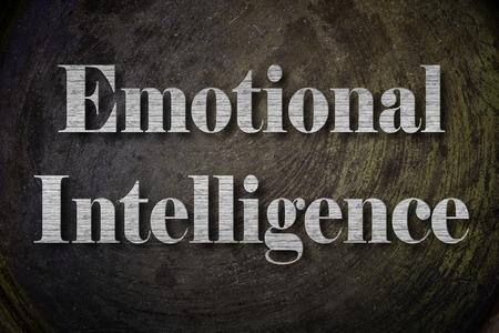 inteligencia emocional: Emocional Inteligencia Texto en el fondo