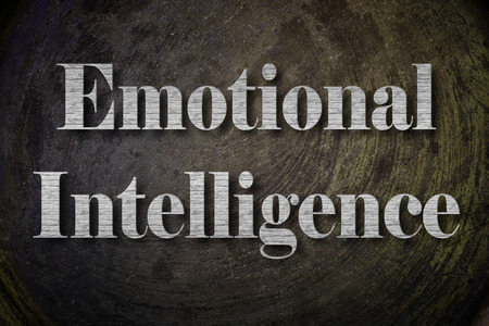 self esteem: Emotional Intelligence Text on Background